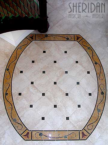 Custom Flooring Border Pattern - Sheridan Interiors