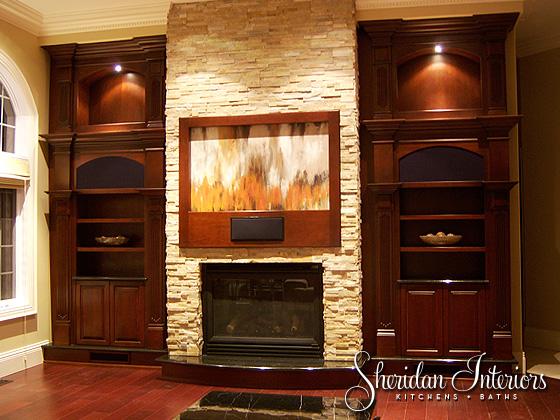 Transitional Custom Cabinetry - Sheridan Interiors