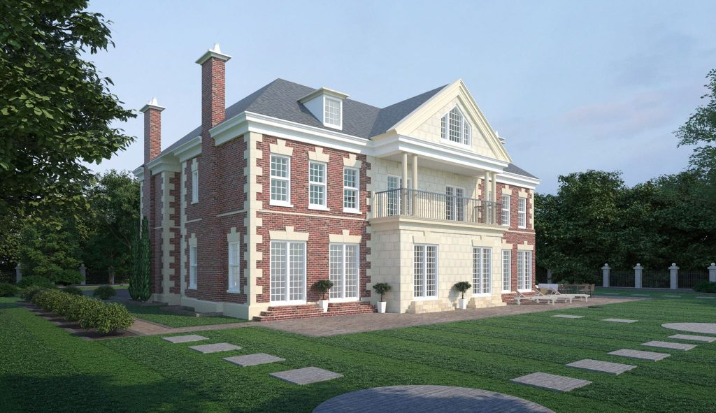 3D Exterior Elevation - Sheridan Interiors