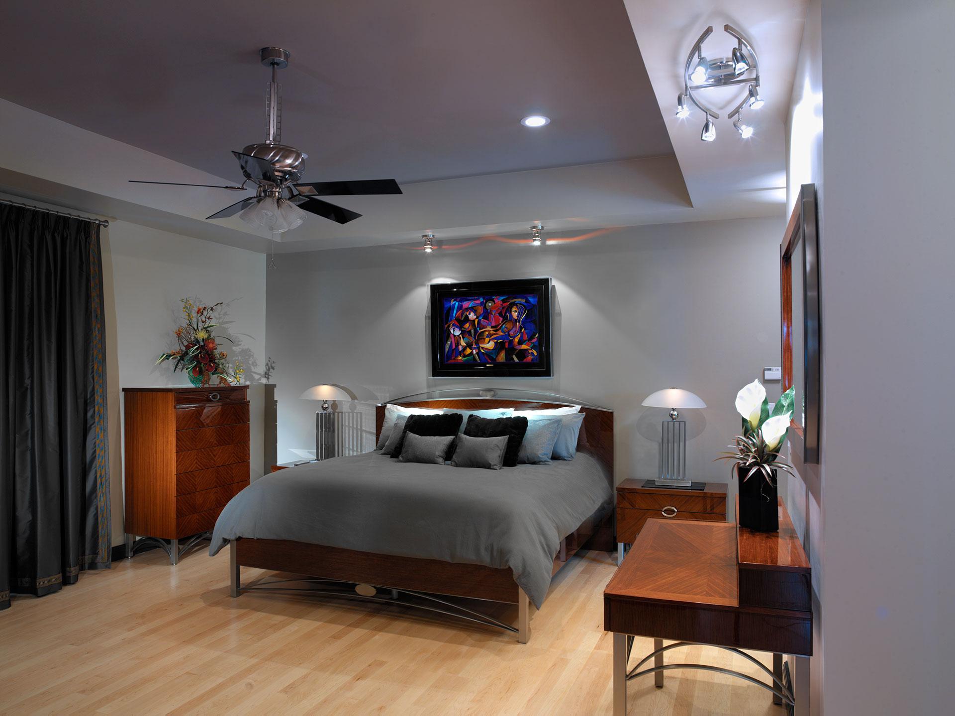 master bedroom, masculine master bedroom, contemporary bedroom decor, masculine bedroom decor, interior designer cornwall, interior designer ottawa, Interior Decorating Services - Sheridan Interiors, sheridan interiors kitchens and baths