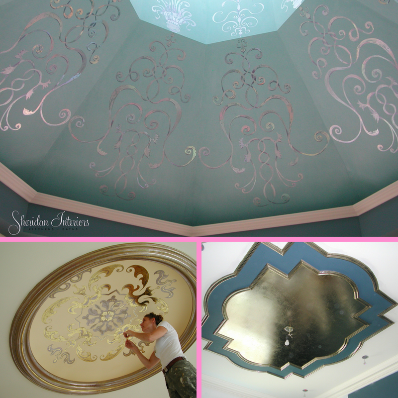 decorative ceiling treatments, vaulted ceilings, ceiling medallions, ceiling mouldings, Embellishments and details - Sheridan Interiors, sheridan interiors kitchens and baths, interior designer ottawa, interior designer cornwall, home renovation, new home construction