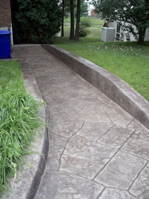 Concrete or stamped concrete - Sheridan Interiors