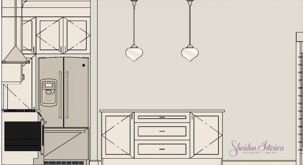 Kitchen Island Perspective - Sheridan Interiors