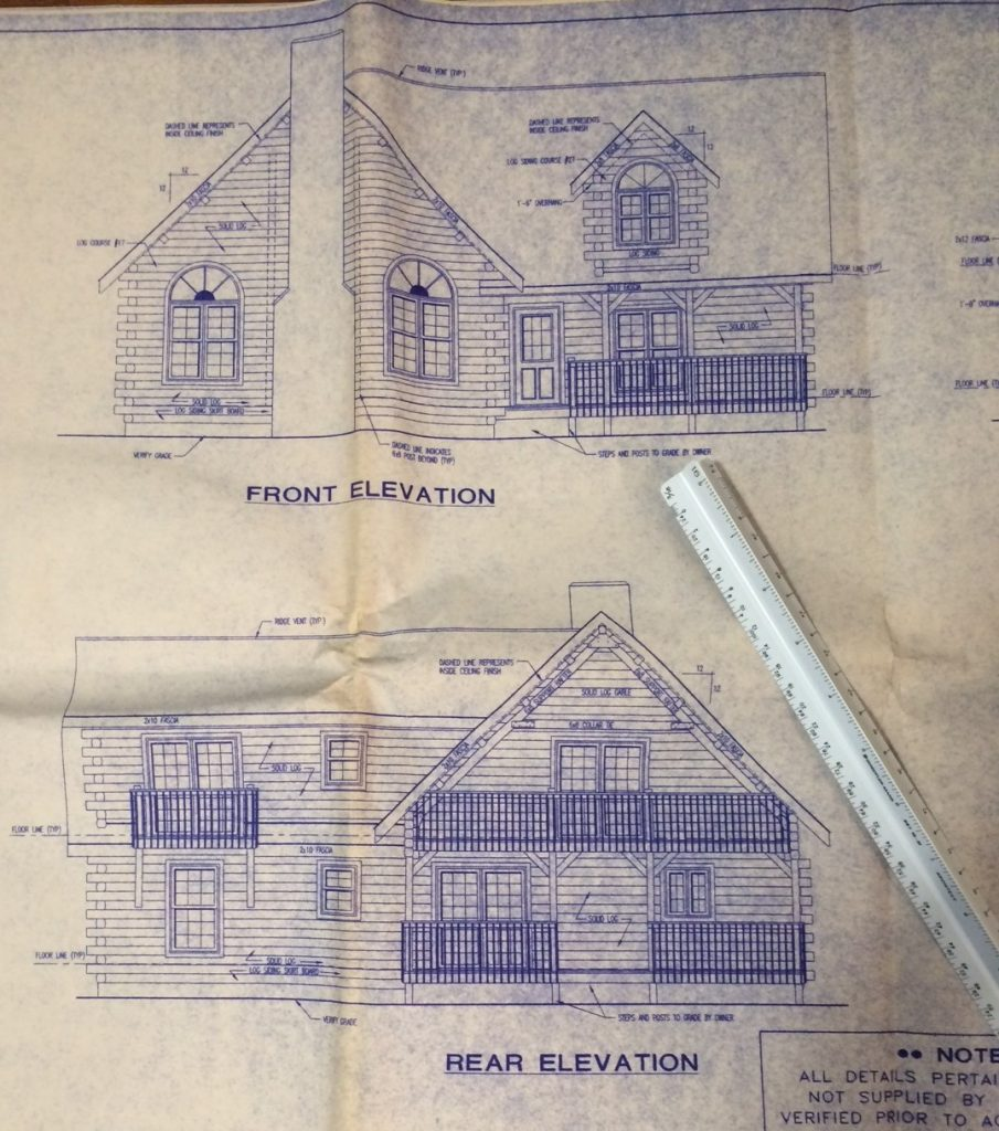 Log Cabin Blueprint - Sheridan Interiors