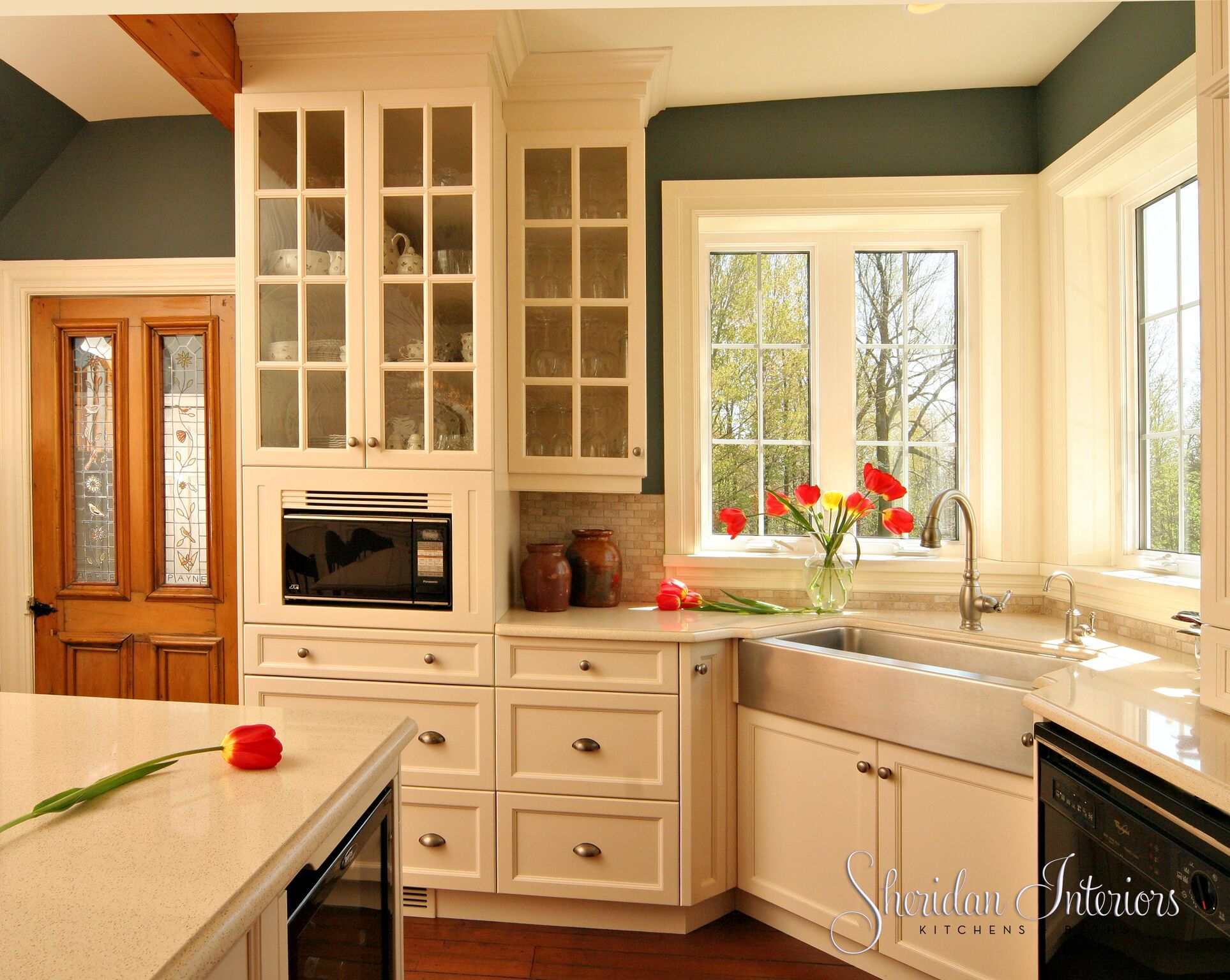 Country Kitchen with Farmhouse Sink - Sheridan Interiors