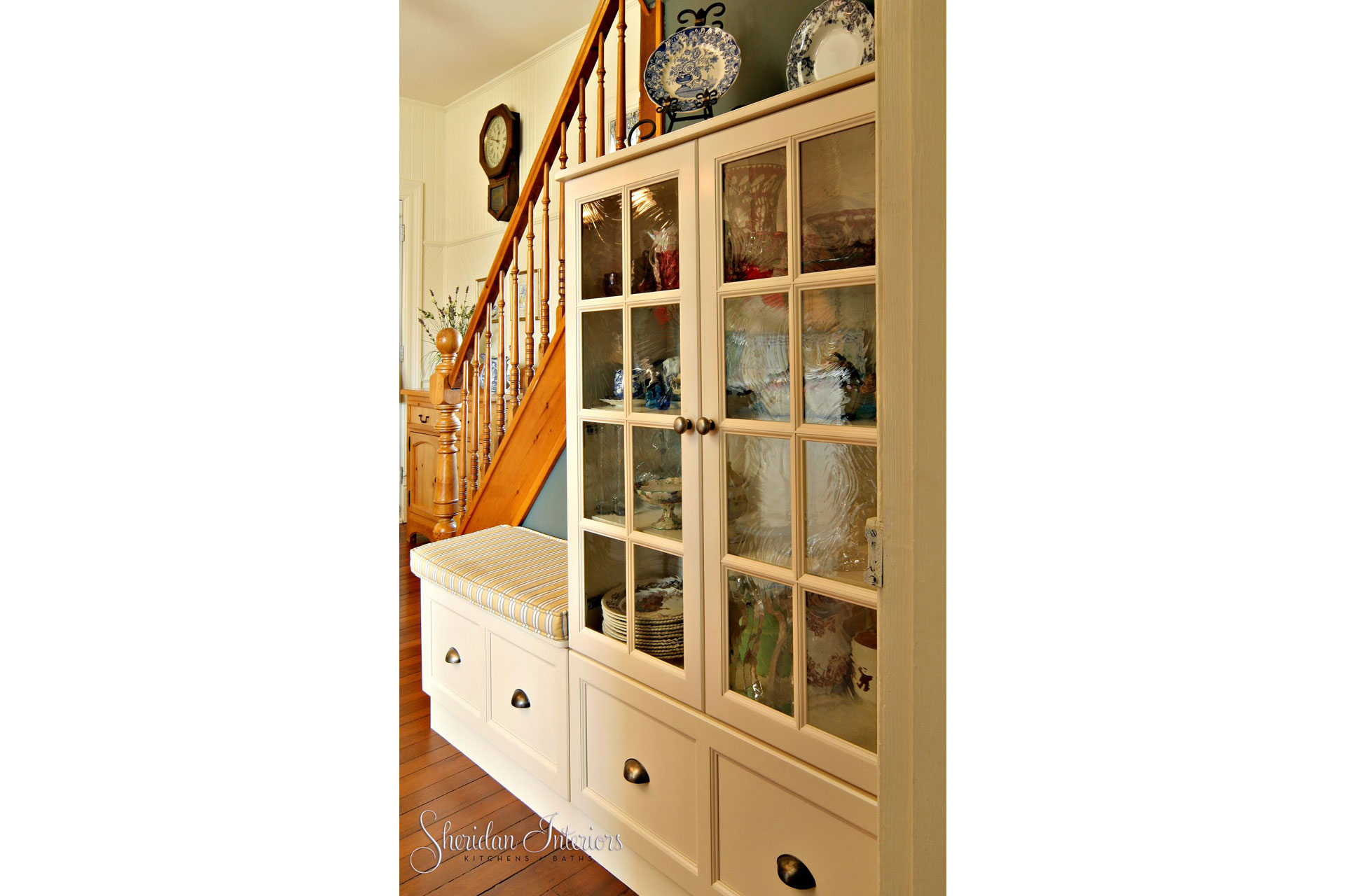 Country Kitchen with Staircase Hutch - Sheridan Interiors