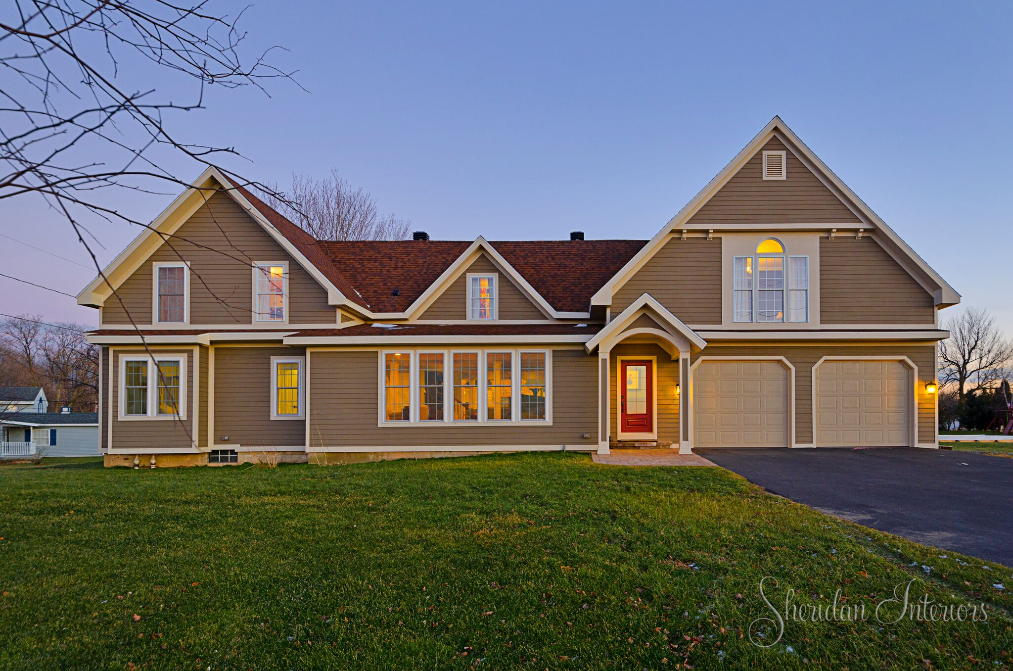 Colonial Style Home Exterior View - Sheridan Interiors