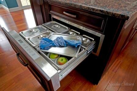 warming drawer, wolf warming drawer, Kitchen Island with Warming Drawer - Sheridan Interiors, sheridan interiors kitchens and baths, kitchen designer cornwall, kitchen designer ottawa