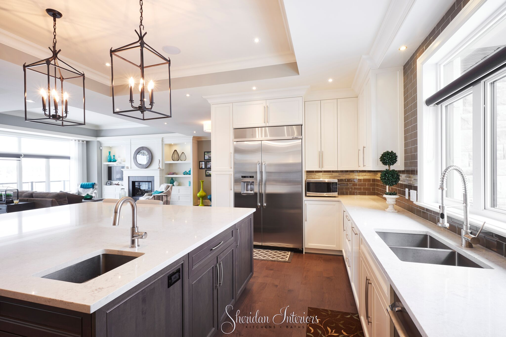Contemporary White Kitchen - Sheridan Interiors
