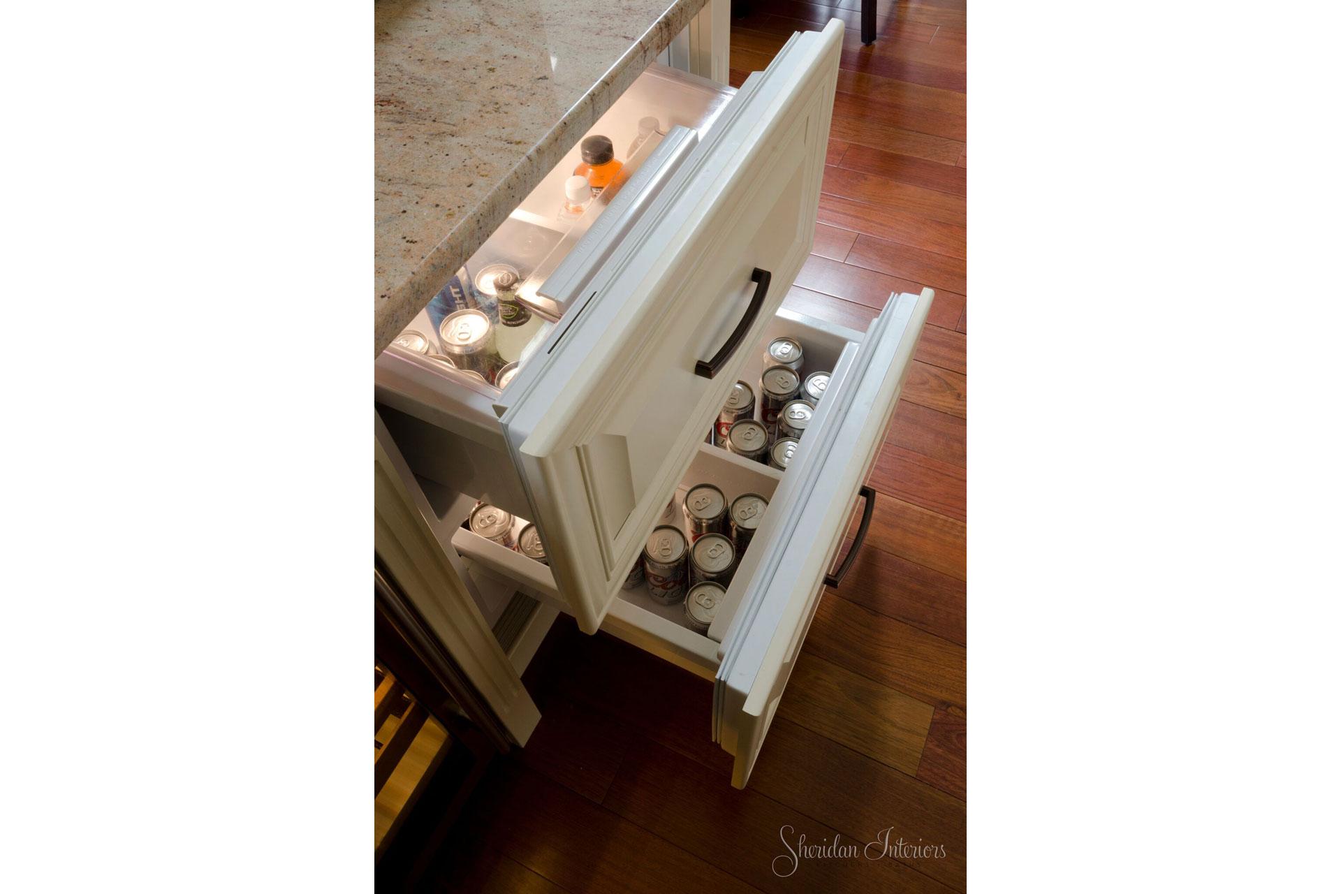 traditional kitchen, Refrigerator Drawers in Kitchen - Sheridan Interiors, sheridan interiors kitchens and baths, kitchen designer cornwall, kitchen designer ottawa