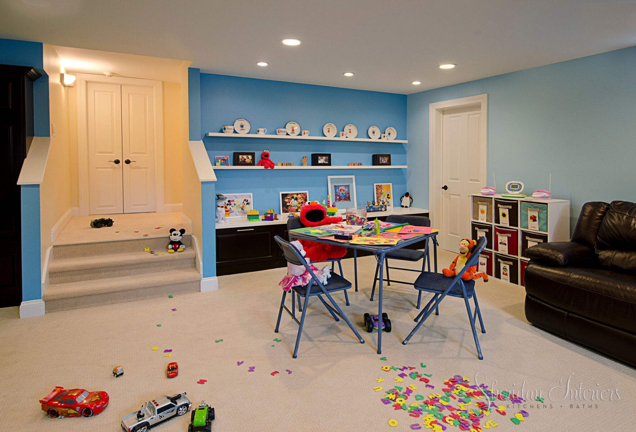 Kid's Playroom with Built-in Storage - Sheridan Interiors, sheridan interiors kitchens and baths, interior designer cornwall, interior desinger ottawa