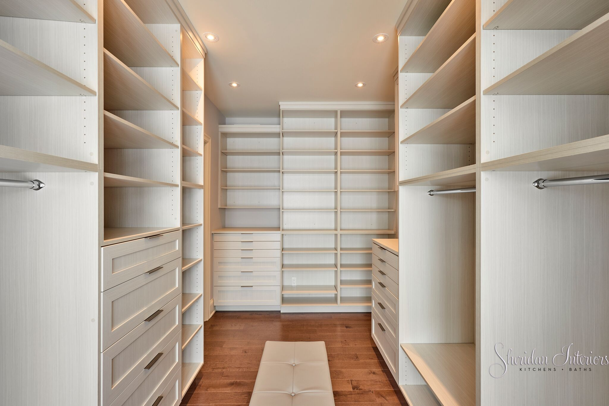 Master Bedroom Walk-in Closet - Sheridan Interiors