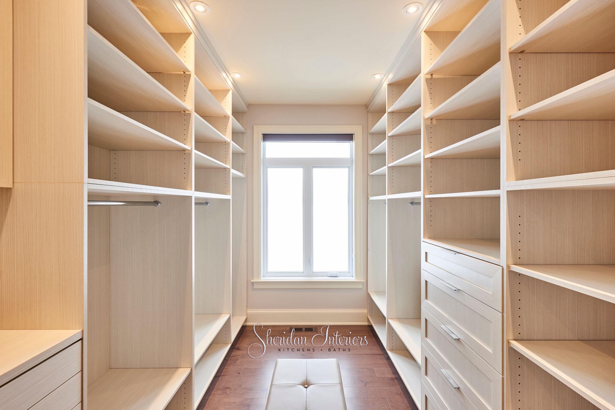 master closet, walk-in closet, closet design, custom closet