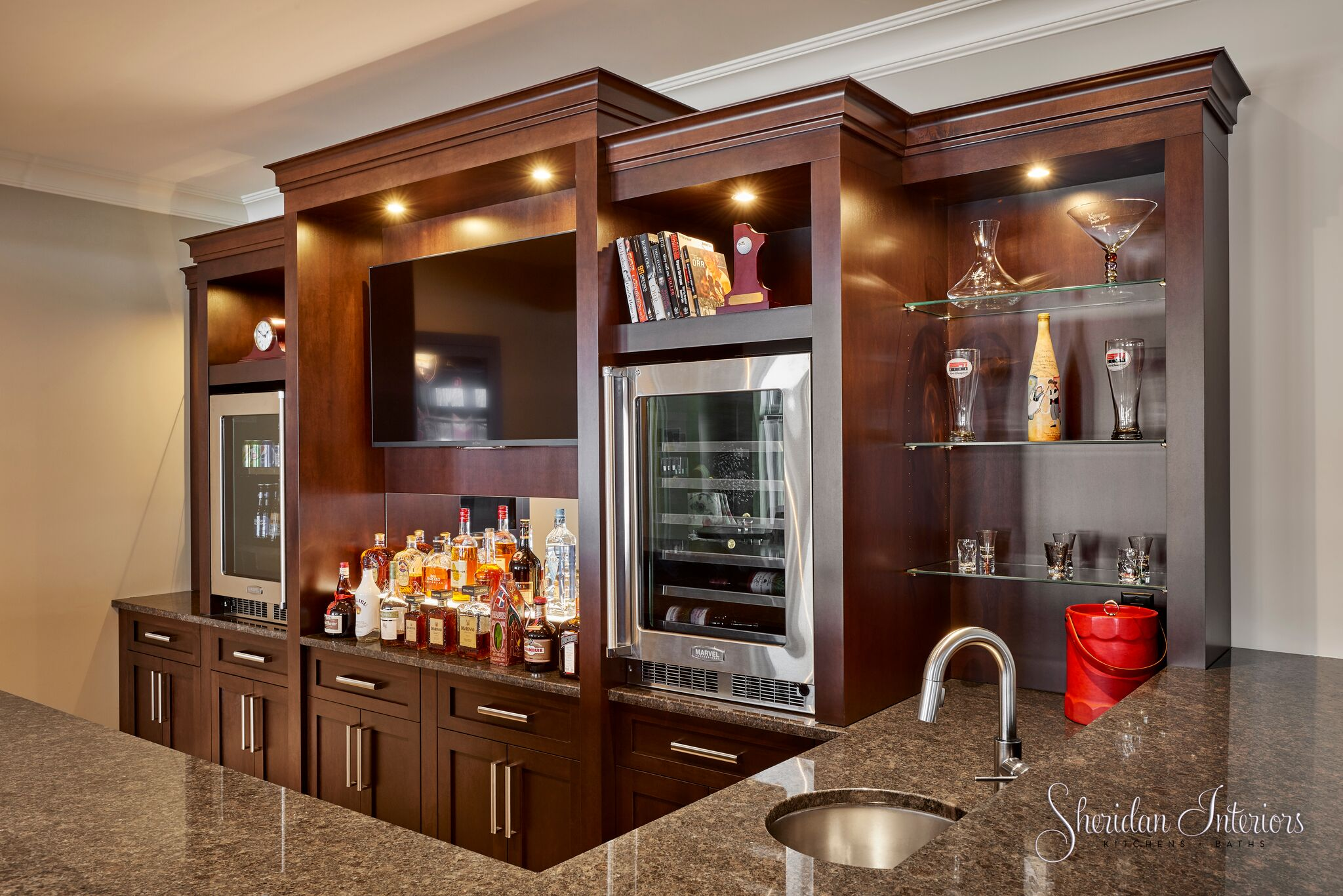basement bar designs, modern basement decor, sports bar ideas