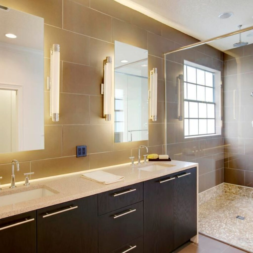 Lighting in the shower - Sheridan Interiors